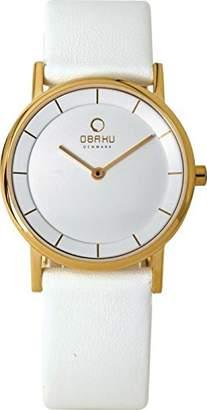 Obaku Women's V143LXGWRW Analog Display Analog Quartz White Watch