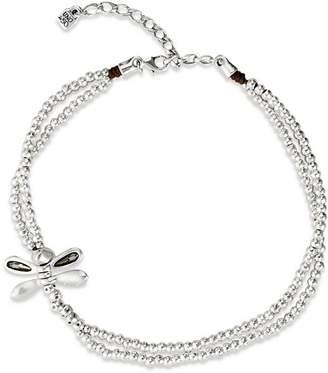 "Uno de 50 Lil Double-Strand Dragon Fly Necklace, 15"""