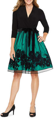 Chetta B BE BY Be by 3/4 Sleeve Party Dress