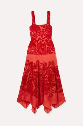 Rosie Assoulin Tiered Devoré Silk-organza Midi Dress - US4