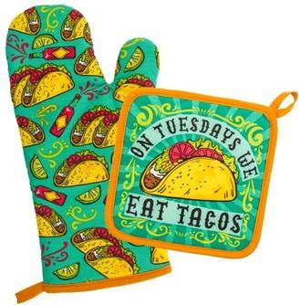 WIT Oven Mitt & Pot Holder, Tacos