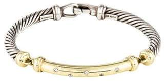 David Yurman Two-Tone Diamond Metro Bracelet