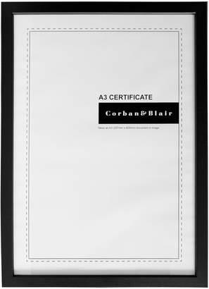 Corban & Blair Thin Profile Frame, A3, Black