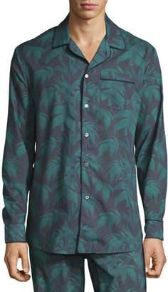 Desmond & Dempsey Men's Byron Palm Leaf-Print Lounge Shirt