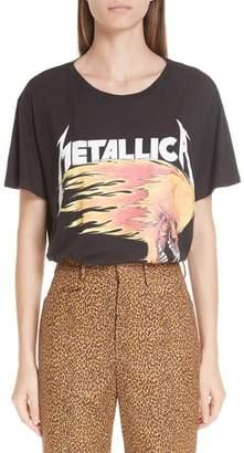 R 13 Metallica Flaming Skull Tee
