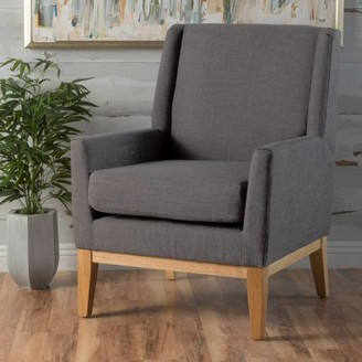 Ralph Lauren Noble House Light Grey Fabric Accent Chair