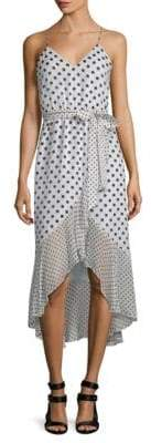 Alice + Olivia Mable Hi-Lo Midi Dress