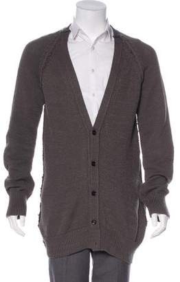 Burberry Woven Button-Up Cardigan