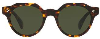 Oliver Peoples Irven Tortoise Round Sunglasses