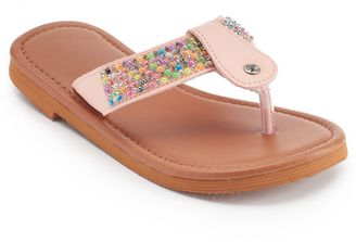 Girls 4-16 Beaded T-Strap Sandals $16 thestylecure.com