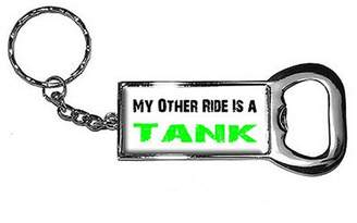 Generic My Other Ride Vehicle Car Is A Tank Keychain Key Chain Ring Bottle Bottlecap Opener