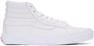 Vans White OG Sk8-Hi LX Sneakers $110 thestylecure.com