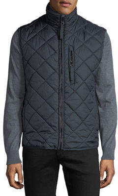 Andrew Marc Men's Chester Zip-Front Quilted Vest