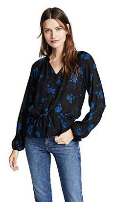 Parker Women's Rosaline Long Sleeve Button Front Elastic Waist Blouse
