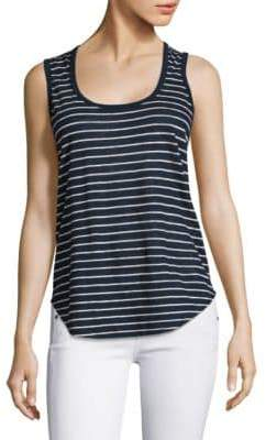 ATM Anthony Thomas Melillo Striped Linen Jersey Tank Top