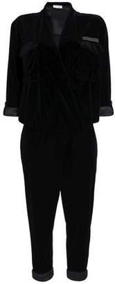 Brunello Cucinelli Cropped Bead-Embellished Velvet Jumpsuit