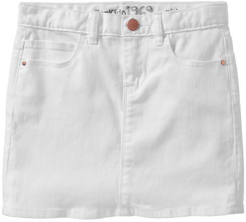 Gap White denim mini skirt
