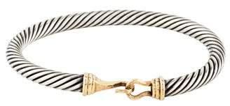 David Yurman Two-Tone Cable Classic Buckle Bracelet