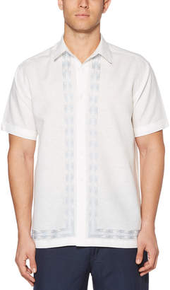 Cubavera L-Shape Raindrop Embroidered Shirt