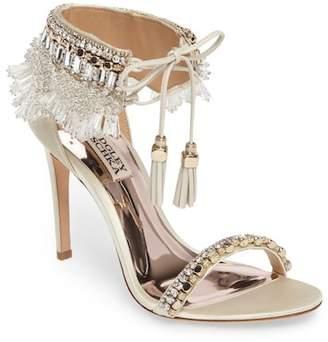 Badgley Mischka Katrina Embellished Tie Sandal