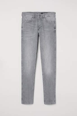 H&M Tech Stretch Skinny Jeans - Gray