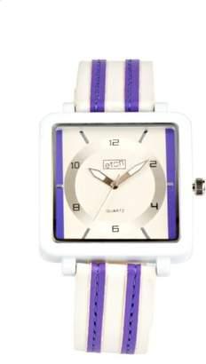 Eton Ladies Purple/White Striped Strap Watch 2899-6