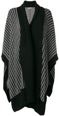 N.Peal textured oversized poncho