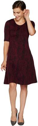 Halston H By H by Regular Knit Jacquard Fit & Flare Dress