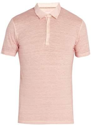 120% Lino Linen Jersey Polo Shirt - Mens - Pink