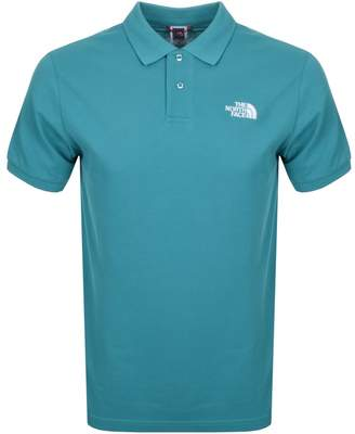 The North Face Logo Polo T Shirt Green