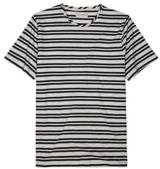 Oliver Spencer Navy Striped Cotton T