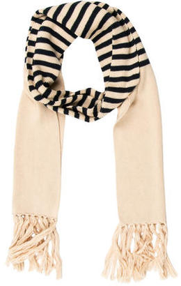 A.P.C. Striped Print Scarf $75 thestylecure.com