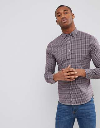 Sisley Checked Shirt In Slim Fit