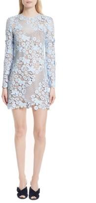 Women's Self-Portrait 3D Floral Minidress $445 thestylecure.com