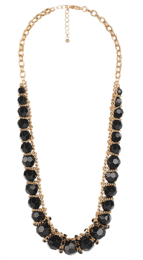Chain Divided Beaded Necklace