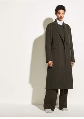 Vince Long Brushed-Wool Coat