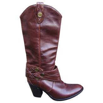 Sartore Brown Leather Boots