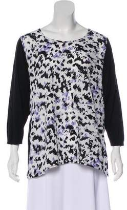 Andrew Marc Printed Cotton Top