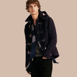 Burberry Wool Duffle Jacket With Detachable Hood $995 thestylecure.com