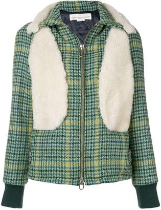 Golden Goose houndstooth zipped jacket