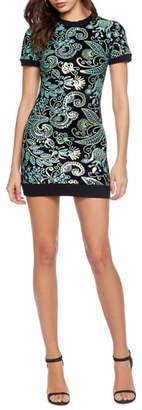 Dress the Population Cosmo x Malorie Sequin Knit Body-Con Minidress