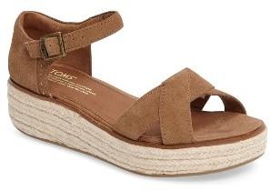 Women's Toms Harper Platform Sandal $88.95 thestylecure.com