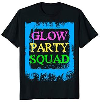 Glow Party Squad Paint Splatter Effect Neon Glow Party Shirt