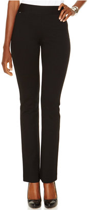 INC International Concepts Curvy Pull-On Straight-Leg Pants, Only at Macy's $69.50 thestylecure.com