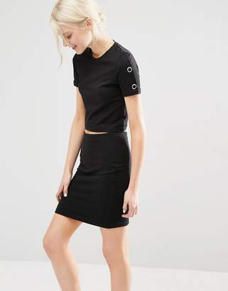 Cheap Monday Sweat With Popper Sleeve