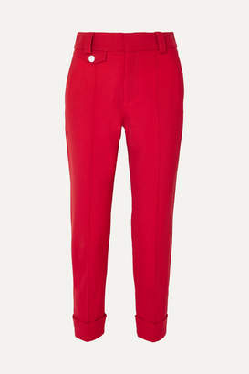 Proenza Schouler Carrot Cropped Wool-blend Drill Tapered Pants
