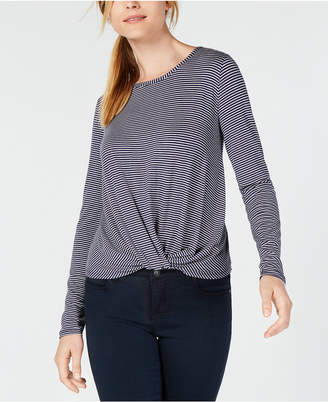 Maison Jules Twisted Hem Top, Created for Macy's
