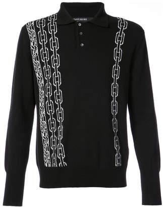 Enfants Riches Deprimes chain print button top sweater