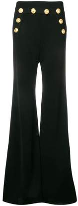 Balmain high-waisted flared trousers