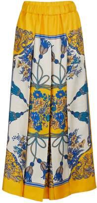 Gucci Silk printed pants
